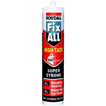 Soudal Fix All High Tack Adhesive & Sealant 290ml