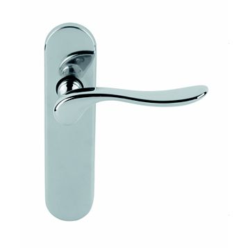 Urfic Hampshire Polished Latch Door Handle, Pack of 2