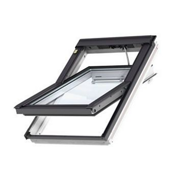 Velux White Timber Centre Pivot Roof Window 980 x 550 mm