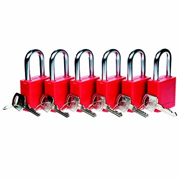 Lockout Safety Padlock (W)100mm, Pack of 6