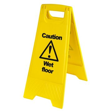 Plastic Floor Safety Sign (H)680mm (W)300mm