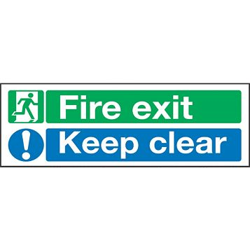 Plastic Fire Safety Sign (H)150mm (W)450mm