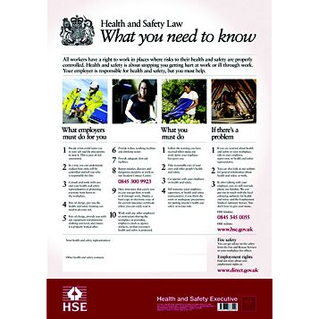 Plastic Health & Safety Law Poster (H)595mm (W)415mm