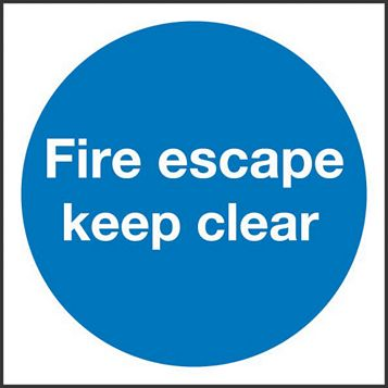 Plastic Fire Safety Sign (H)100mm (W)100mm