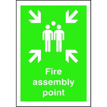 Polypropylene Fire Assembly Point Sign (H)420mm