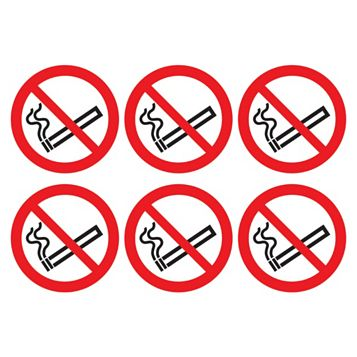 Vinyl No Smoking Symbol Sign (H)230mm (Dia)100mm