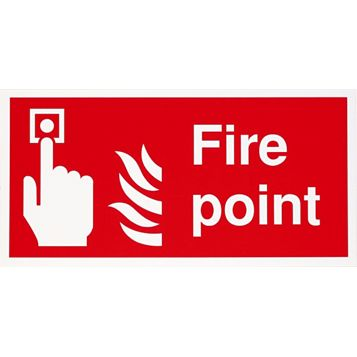 1.2mm Rigid Polypropylene Fire Point Sign 400 mm x 200 mm