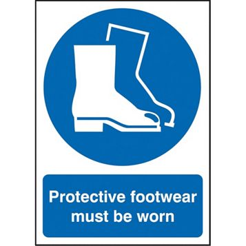 1.2mm Rigid Polypropylene Protective Footwear Must Be Worn Sign 297 mm x 420 mm