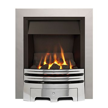 Westerly Open Fronted Chrome Inset Multiflue Gas Fire