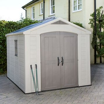 8X11 Apex Plastic Shed - Assembly Required