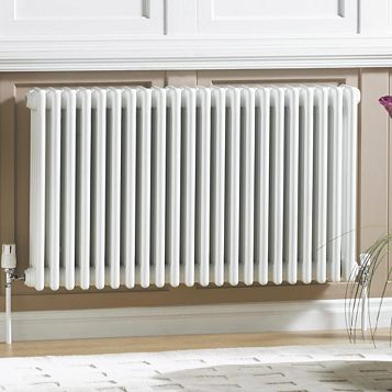 Acova 3 Column Radiator, White (W)1226 mm (H)600 mm