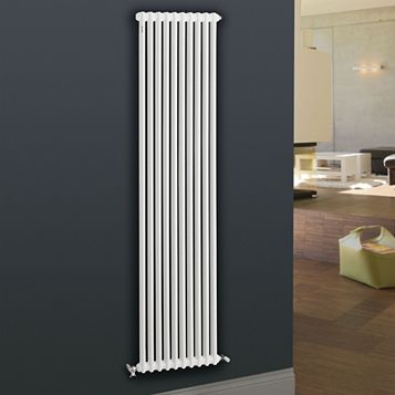 Acova 2 Column Radiator, White (W)398 mm (H)2000 mm