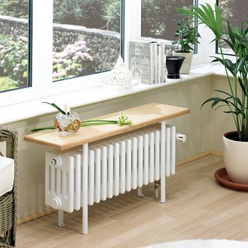 Acova 4 Column Radiator, White (W)1000 mm (H)455 mm