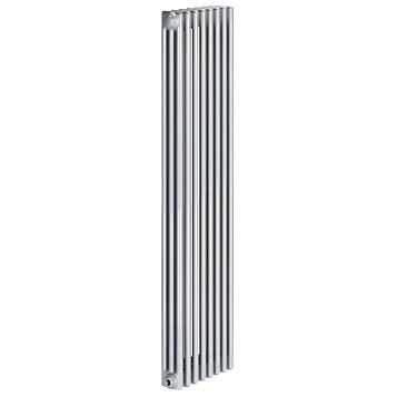 Acova 3 Column Radiator, Silver (W)398 mm (H)2000 mm