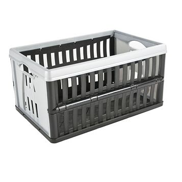 Black & Grey 60L Plastic Folding Crate