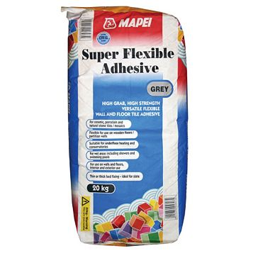 Mapei Super Flexible Powder Adhesive Grey 20kg