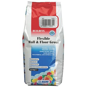 Mapei Flexible Grey Wall & Floor Grout (W)2.5kg