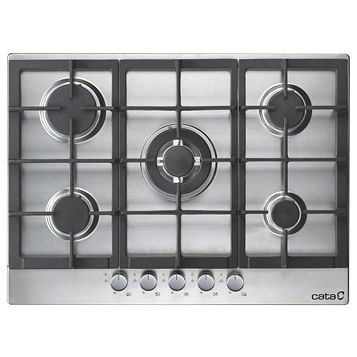 Cata GHD70SS 5 Burner Cast Iron & Stainless Steel Gas Hob