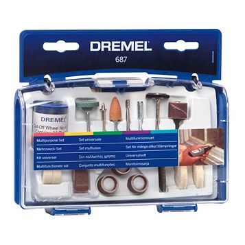 Dremel 60-120 Grit Multipurpose Kit (Dia) 147mm, Set of 52