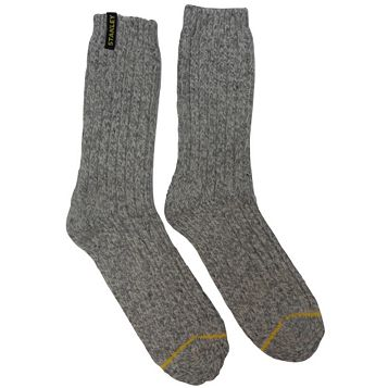 Stanley 2 Pairs Of Grey Extra Warm Work Socks Size 8.5-11