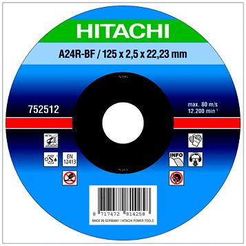 Hitachi (Dia)125mm Continuous Flat Abrasive Disc