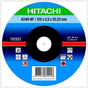 Hitachi (Dia)125mm Continuous Depressed Centre Abrasive Disc