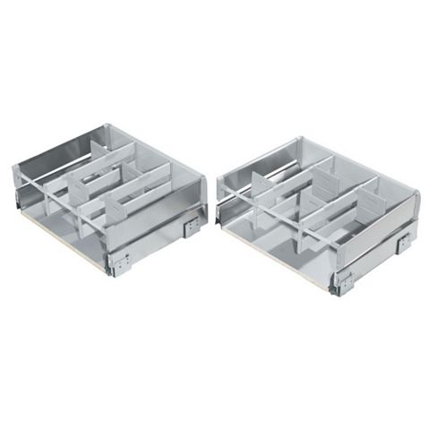 Cooke & Lewis Lay-On Stainless Steel Effect Drawer Box