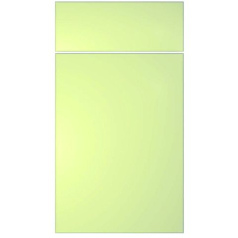 IT Kitchens Santini Gloss Cream Slab Drawerline Door & Drawer Front (W)400mm, Set of 1 Door & 1 Drawer Pack