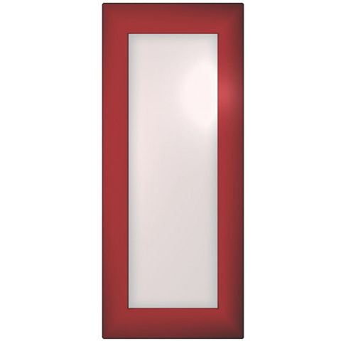Cooke & Lewis Raffello High Gloss Red Glazed Door (W)300mm