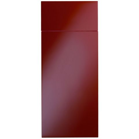 Cooke & Lewis Raffello High Gloss Red Slab Drawerline Door & Drawer Front (W)300mm, Set of 1 Door & 1 Drawer Pack