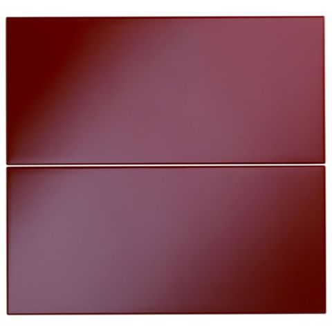 Cooke & Lewis Raffello High Gloss Red Slab Tower Drawer Front (W)600mm, Set of 2