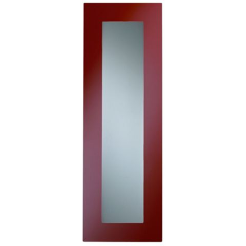 Cooke & Lewis Raffello High Gloss Red Slab Tall Glazed Door (W)300mm