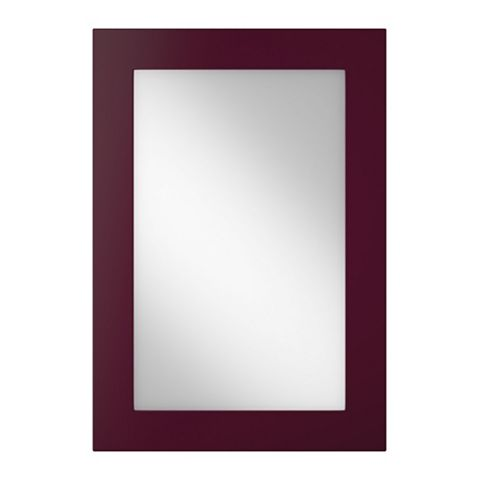 Cooke & Lewis Raffello High Gloss Aubergine Slab Tall Glazed Door (W)500mm