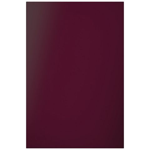 Cooke & Lewis Raffello High Gloss Aubergine Slab Tall Standard Door (W)600mm