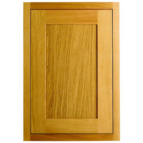 Cooke & Lewis Carisbrooke Oak Framed Fixed Frame Larder Door (W)600mm