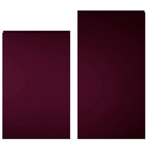 Cooke & Lewis Raffello High Gloss Aubergine Tall Larder Door (W)600mm, Set of 2