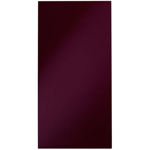 Cooke & Lewis Raffello High Gloss Aubergine Slab Fridge Freezer Door (W)600mm