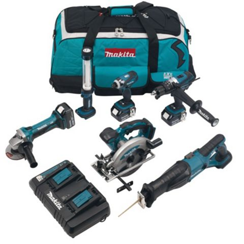 Makita Cordless 18V 6 Piece 6 Piece Power Tool Kit DLX6000PM