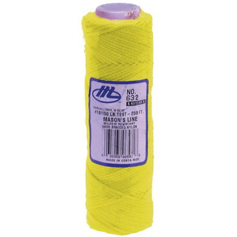 Marshalltown Yellow 76m Braided Nylon Brick Line