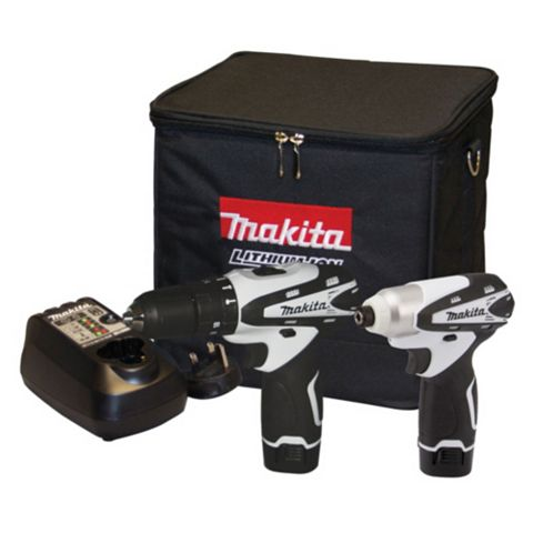 Makita Li-Ion Combi Drill & Impact Driver Kit 2 Batteries DK1486W