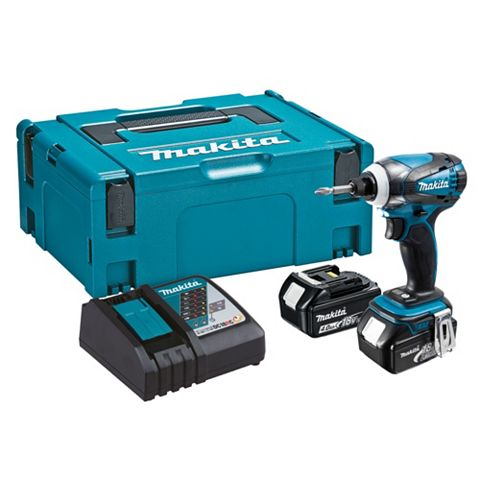 Makita 18V Li-Ion Cordless Impact Driver 2 x Batteries Included, DTD146RMJ