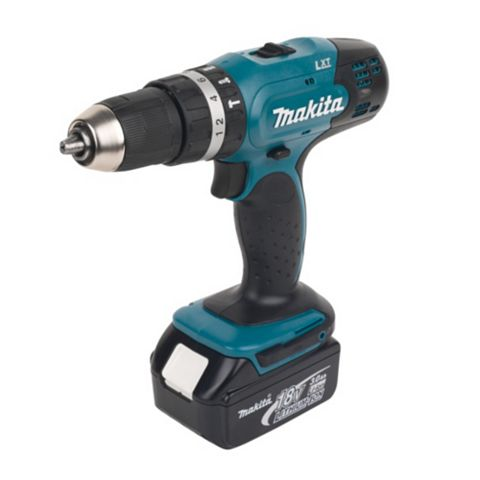 Makita LXT Cordless 18V Li-Ion Combi Drill 1 Battery with 101 Piece Accessory Kit