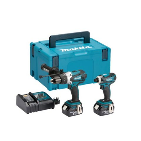 Makita LXT Cordless 18V 2 Piece Combi Drill & Impact Driver Twin Pack DLX2005MJ