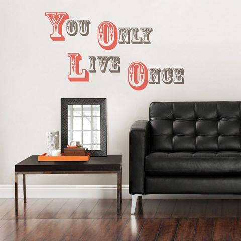 Wallpops You Only Live Once Wall Sticker x (W)34cm