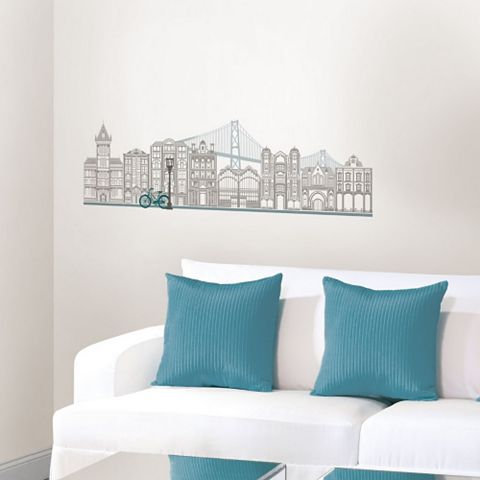 Wallpops Globe Trotter Wall Sticker x (W)56cm