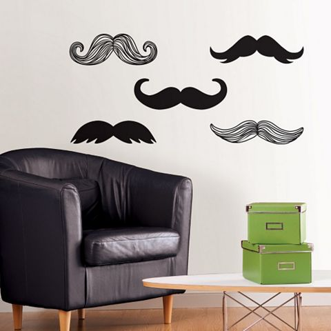 Wallpops Moustache Wall Sticker x (W)61cm