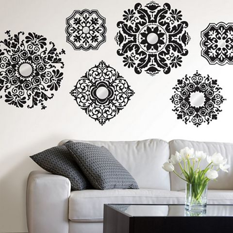 Wallpops Baroque Wall Sticker x (W)150cm