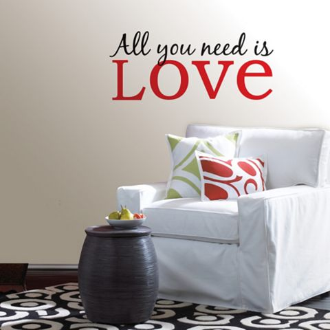 Wallpops All You Need Is Love Wall Sticker x (W)66cm