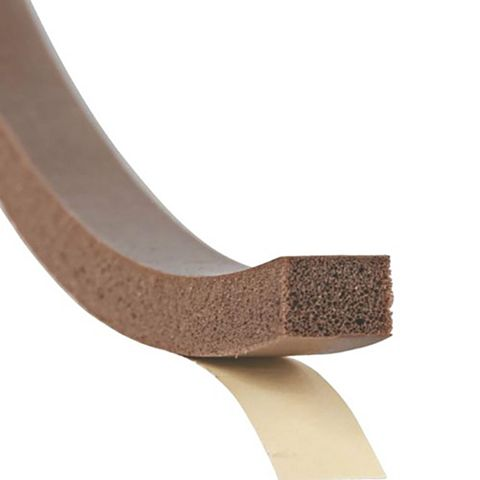 Stormguard Rubber Self Adhesive Extra Thick Weatherstrip, (L)7m