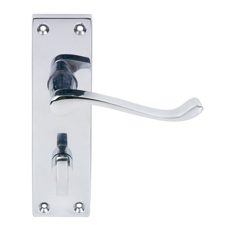 Polished Chrome Effect Scroll Interior Locking Handle,  Pack Of 2